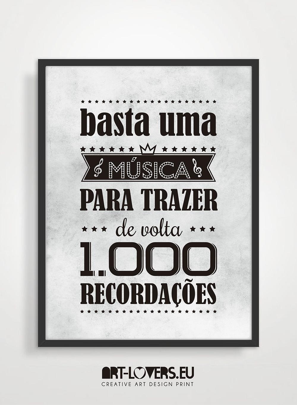 Basta Uma Música Para Trazer De Volta 1000 Recordações